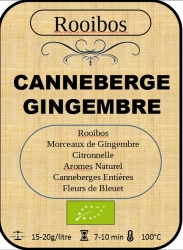 Canneberges/Gingembre