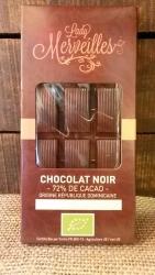 Chocolat Noir 72% origine République Dominicaine