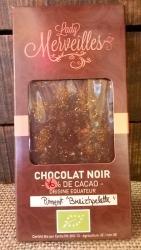 """Chocolat Noir 70%  """"Piment Breizpelette"""" (origine Équateur)"""