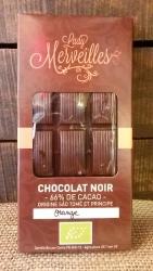 Chocolat Noir 66%  Orange  ( origine Sào Tomé/Principe)