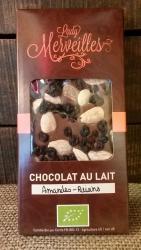 """Chocolat au Lait """"Amandes et Raisins"""""""
