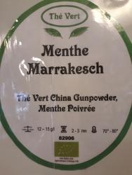 Thé vert de Chine Menthe Marrakesch